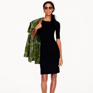 J. Crew | Black Paneled Stretch Dress